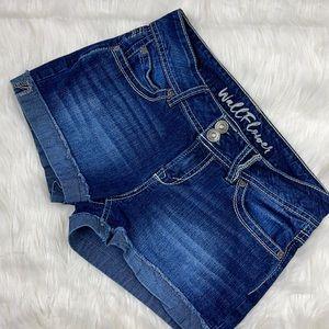 Wallflower Denim Cuffed Shorts Juniors 5